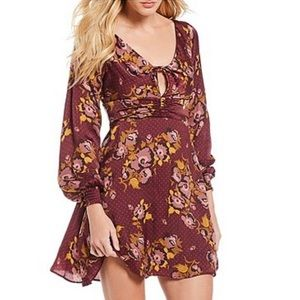 NWT Free People Morning Light Floral Print Dress